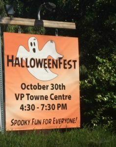 Villa Park Halloween Fest sign