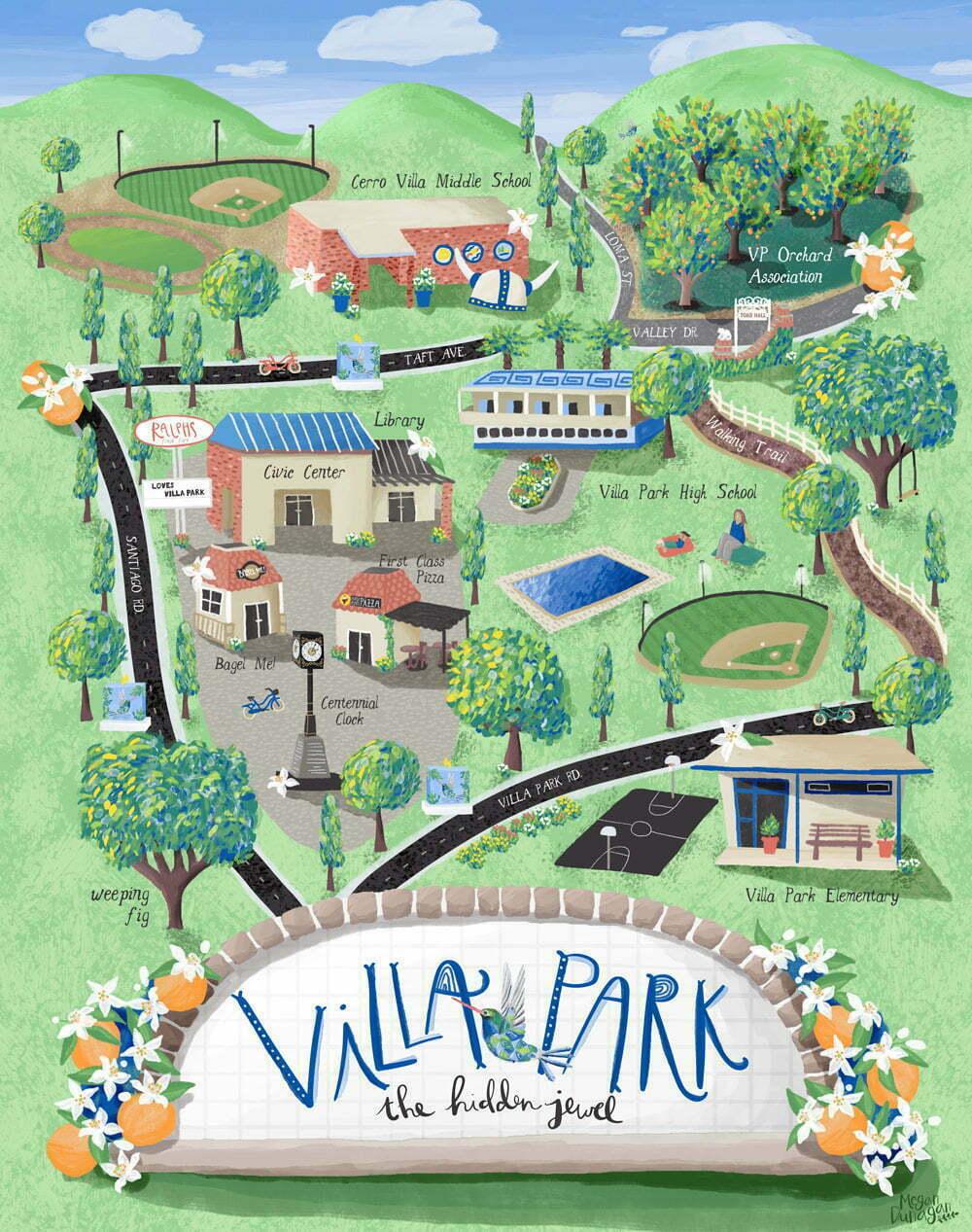 photo regarding Printable Map of Orange County Ca referred to as Villa Park, CA Map Orange County, CA