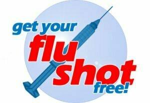 Free flu shot with needle