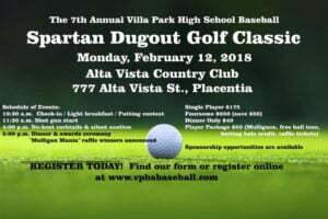 VPHS Spartan Dugout Golf Classic