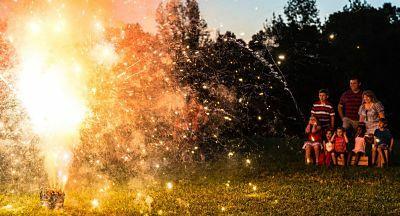 Fireworks in Villa Park