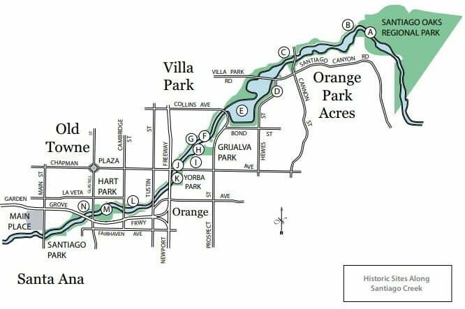 Historic Sites Santiago Creek Bike Trail