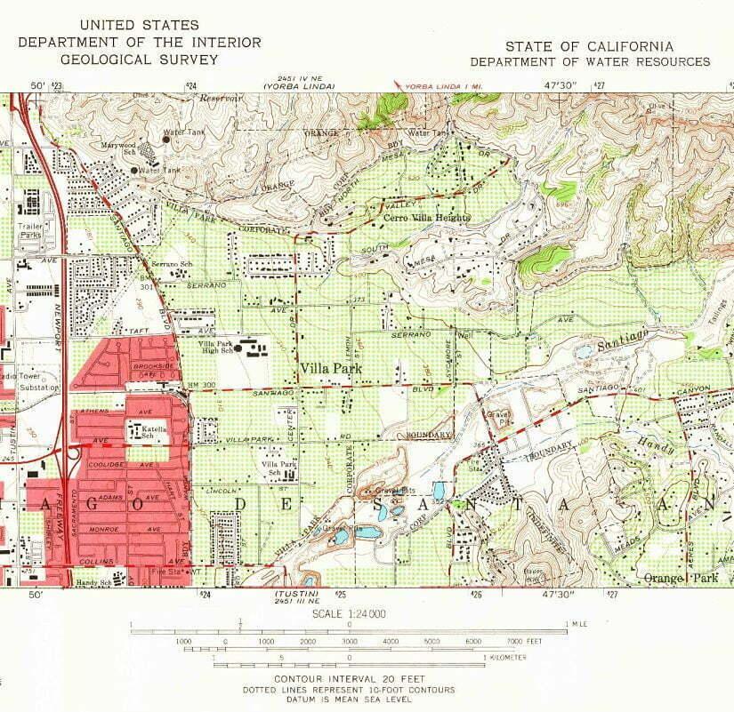 Villa Park, CA Map | Orange County, CA on san margarita california, plat maps california, salinas california, large map of california, street map of pleasanton california, map of san lorenzo california,