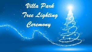 Villa Park Tree Lighting Ceremony