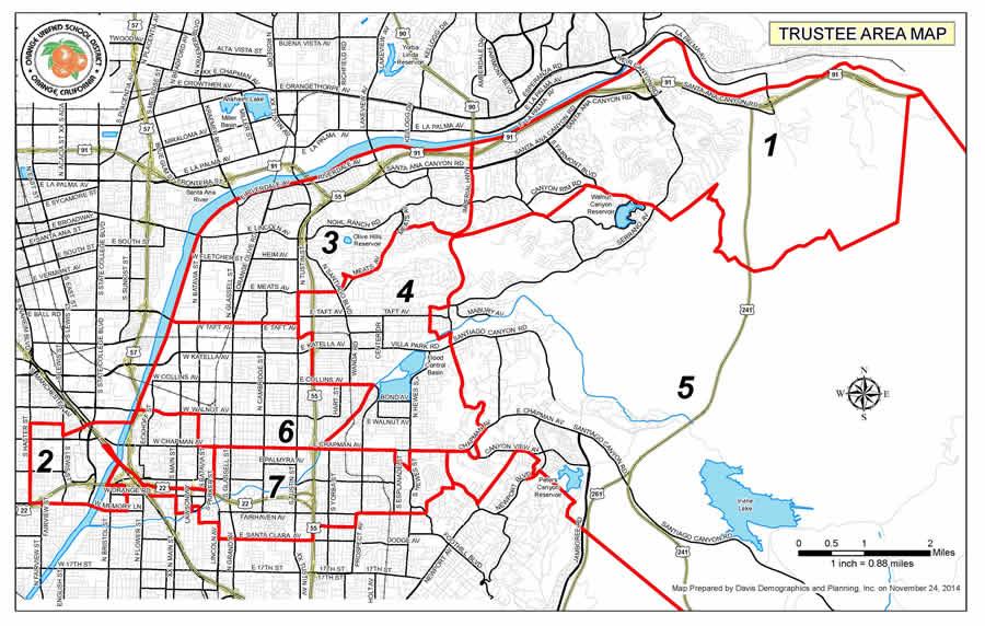 OUSD Trustee Area Map