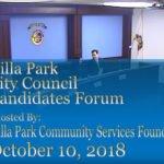 Villa Park City Council Candidate Forum Transcript
