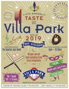 Little League Taste of Villa Park